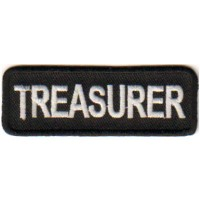 Black Treasurer patch