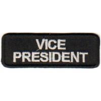 Black Vice President patch