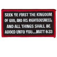 Matt 6 33